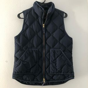 J. Crew Navy Quilted Puffer Vest